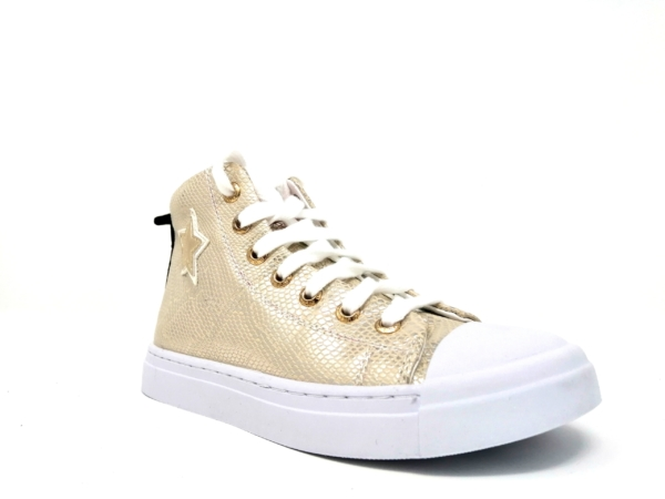 Shoesme Girls Ankle Boots – Gold micro
