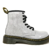 Dr Marten's Boots - Coated Glitter (Silver)