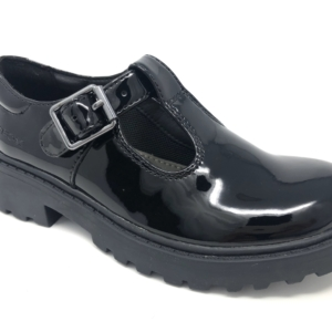 Geox Girls School Shoes - Casey (T-Bar Patent)