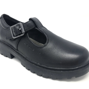 Geox Girls School Shoes - Casey (T-Bar)