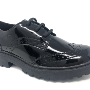 Geox Girls School Shoes - Casey (Brogue Patent)