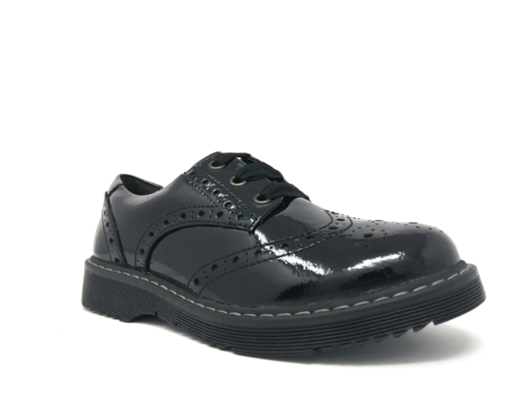Angry Angel Girls School Shoes - Impulsive (Patent)