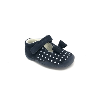startrite girls prewalker Wiggle (navy dots)